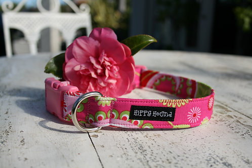Pink & lime green collar