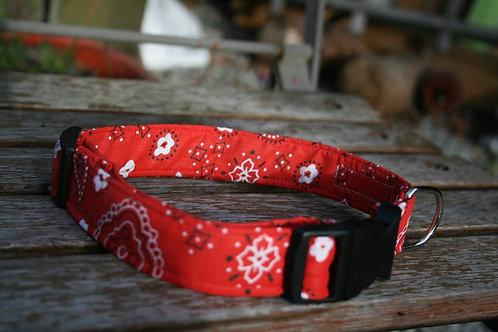 Red western bandana collar