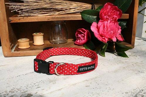 Rockbilly 50's red polka dot collar