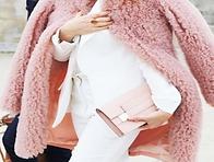 Blush Pink and White - Pink coat