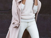 Blush Pink and White - Chic Street Style