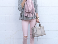 Blush Pink and White - Adding Grey for a Pop