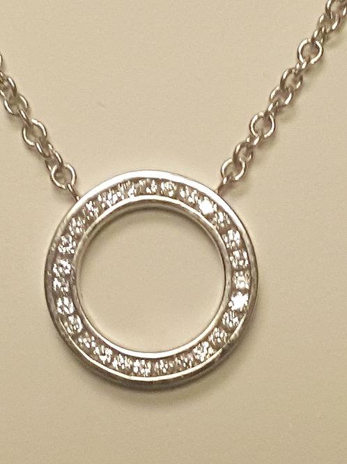 Circle of Diamond Necklace