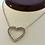 Thumbnail: Diamond Heart Shape Necklace