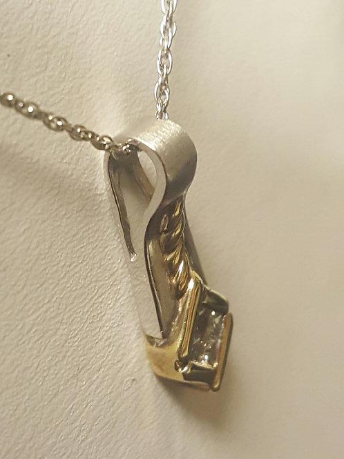 Gold Pendant Diamond Necklace