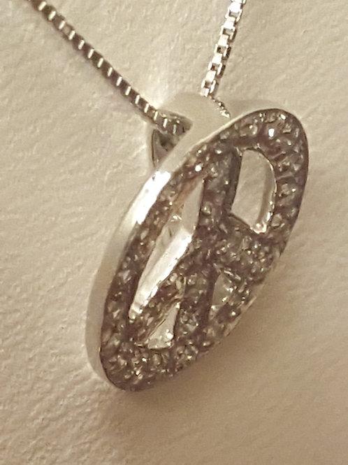 Peace Diamond Necklace