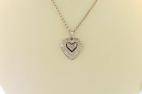 Invisible Diamond Heart Necklace