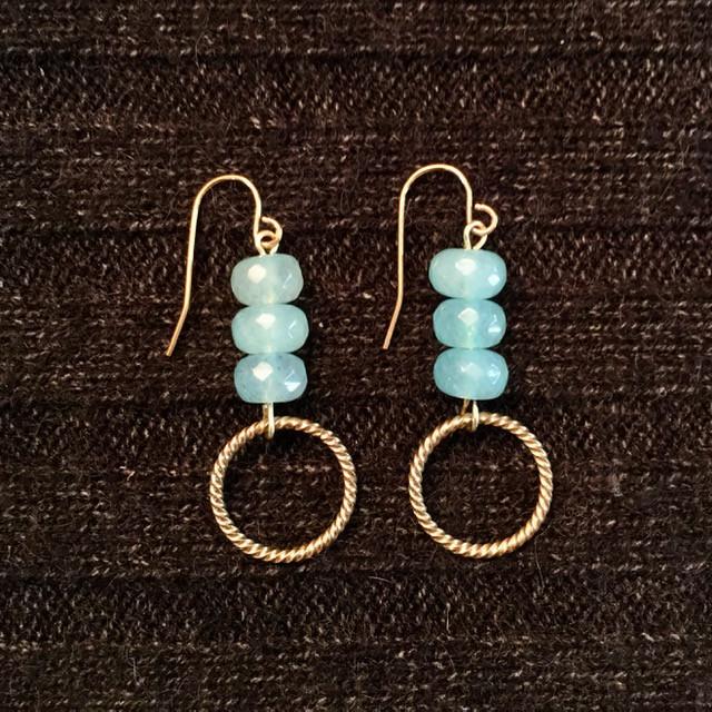Aqua Trio Earrings _1