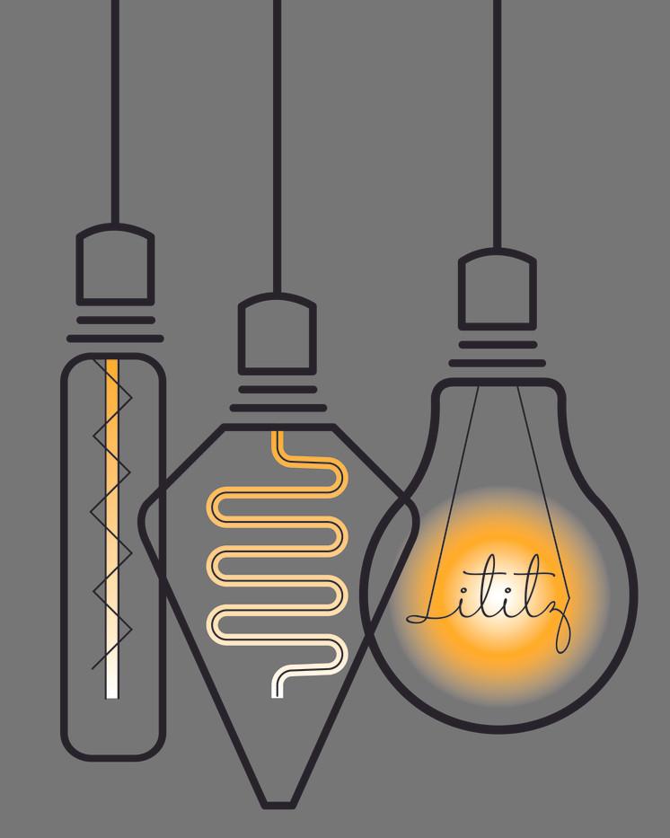 Lititz Edison Bulbs Giclee Print_1