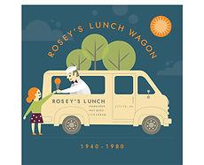 Rosey's Lunch Wagon (1940-1980) Giclee Print