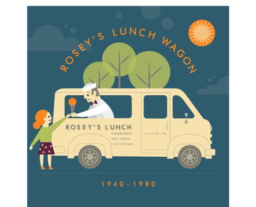 Rosey's Lunch Wagon (1940-1980) Giclee Print_1