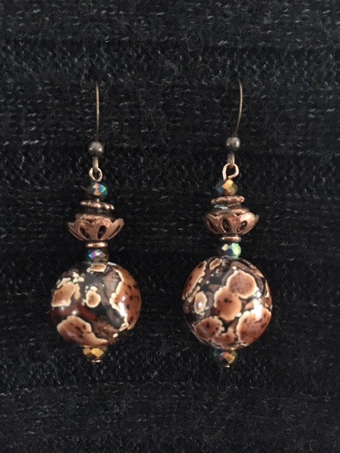 Copper Tie Dyed Earrings_1