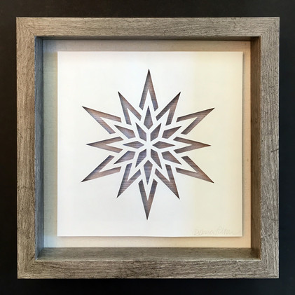 3D Handcut Moravian Star in Shadowbox_1