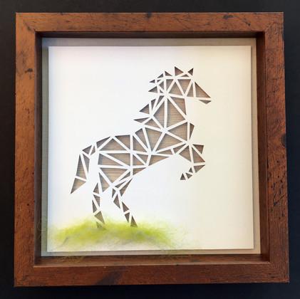 3D Handcut Horse in Shadowbox_1