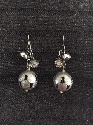 Pewter Ball Earrings_1