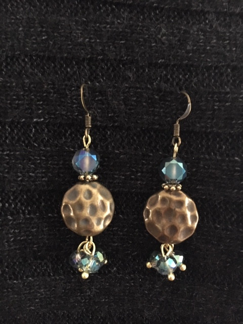 Blue with Bronze Earrings_1