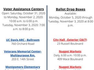 Voter Assistance Centers & Ballot Drop Boxes