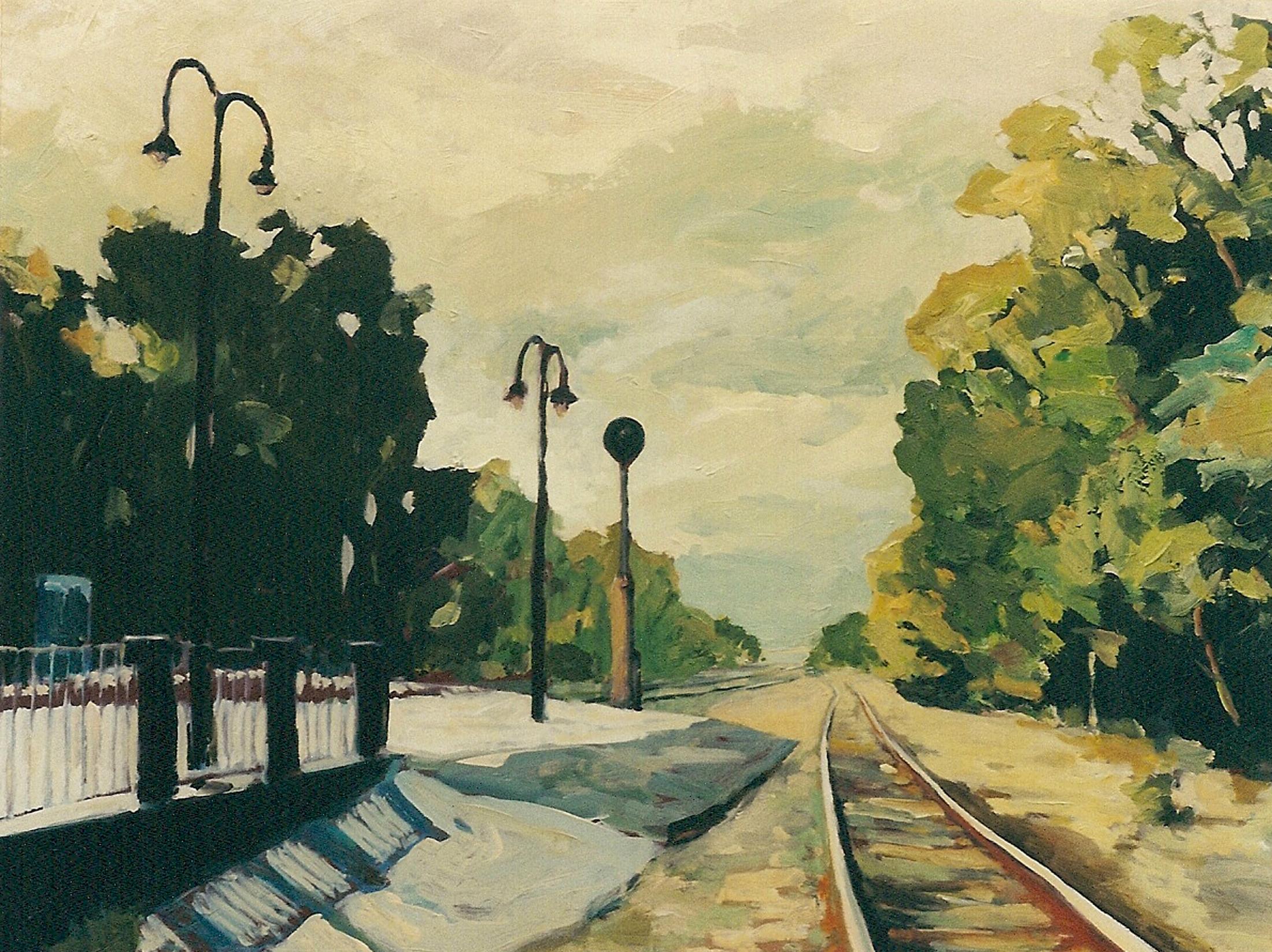 Westbound Tracks and Platform.