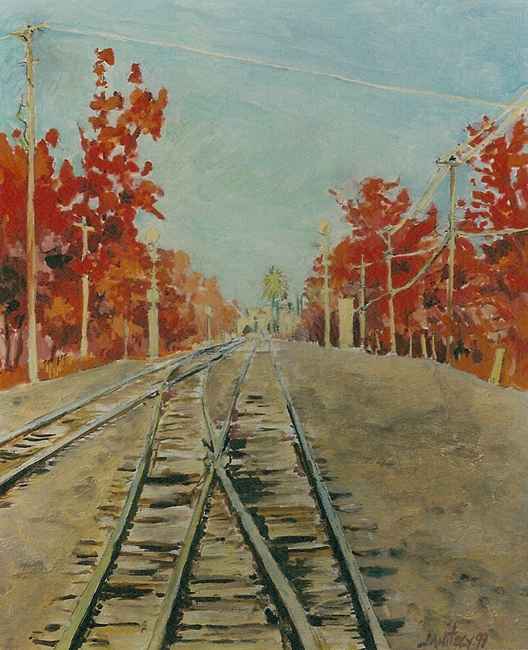 Tracks to Davis, Red Trees.