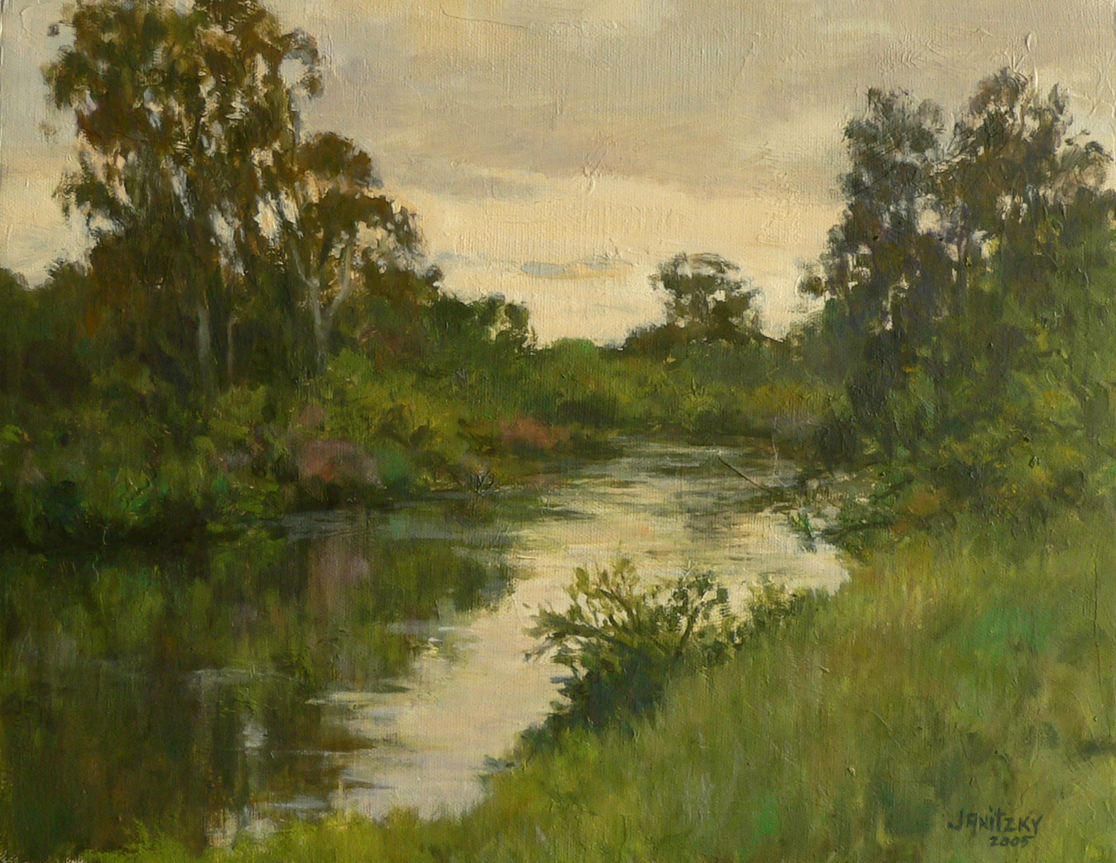 Putah Creek, Spring Evening.