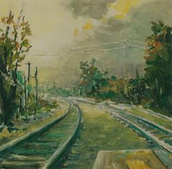 Westbound Tracks, Green Rails.