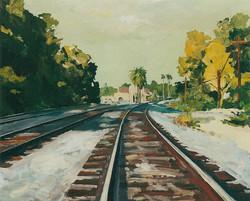 Davis Train Depot, Hot Afternoon.