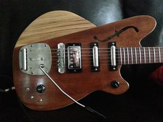Handmade Guitar Using Repurposed Piano Wood & Parts :)