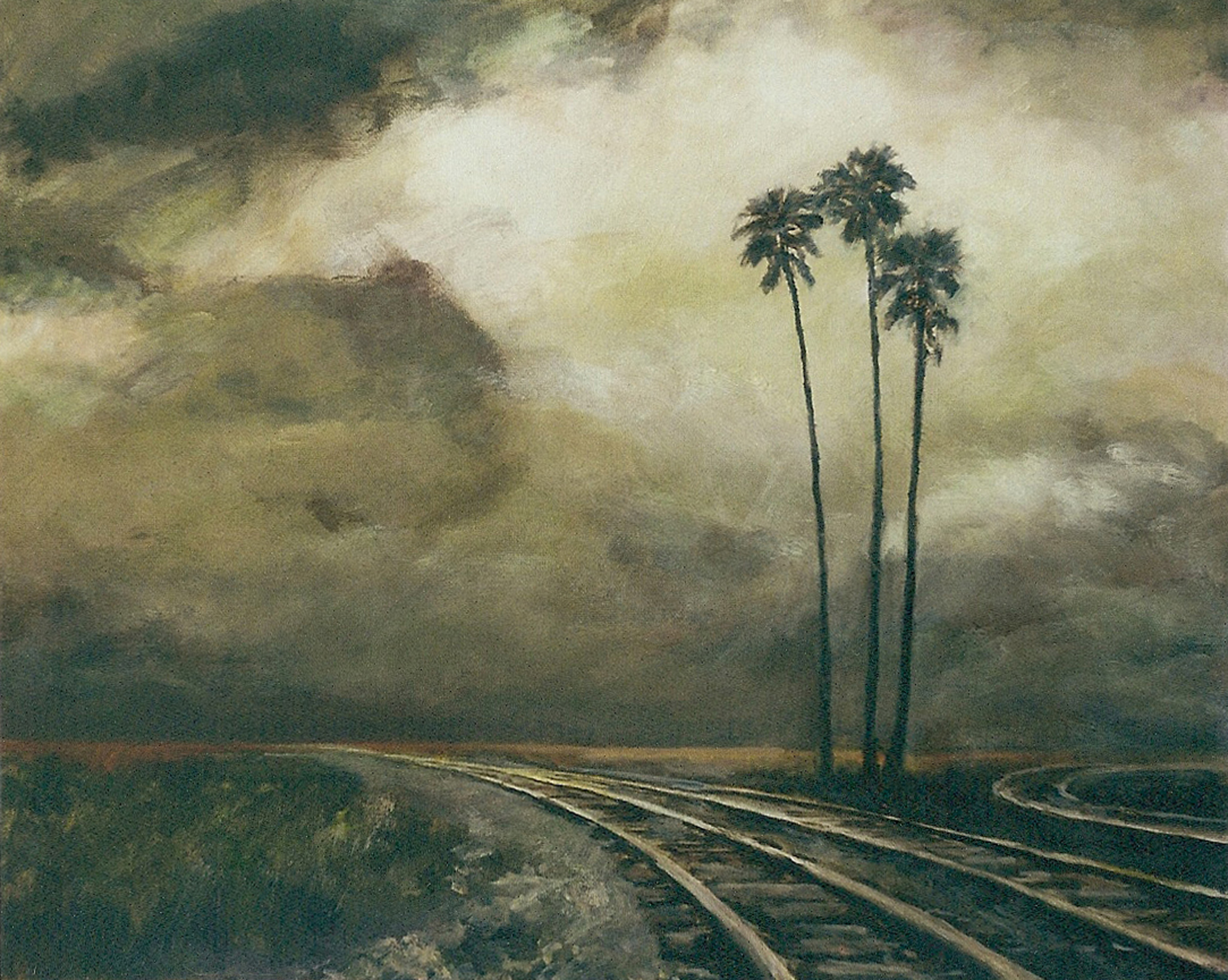 Tracks and Three Palms.