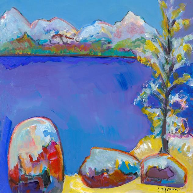 Purple Lake in Winter