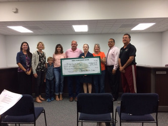 Winters Farm to School Board Members presented a check for $35,000