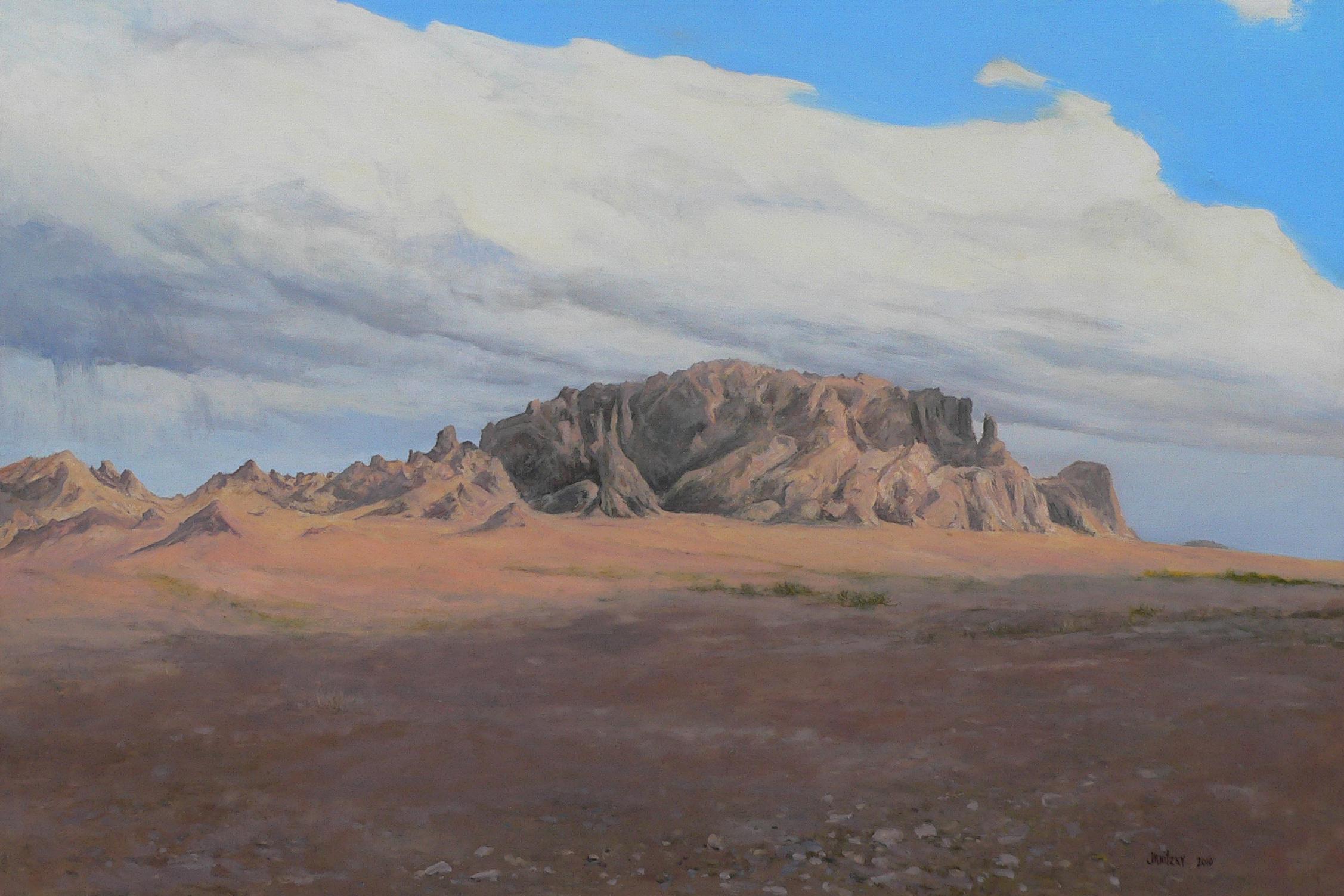 Approaching Kofa Mountains.