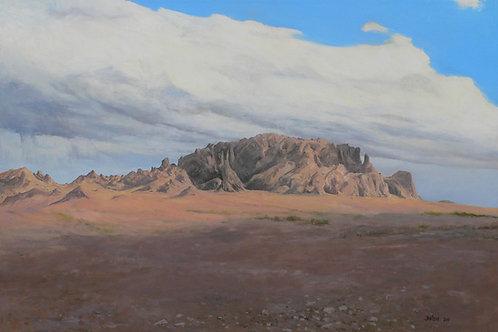 Approaching Kofa Mountains