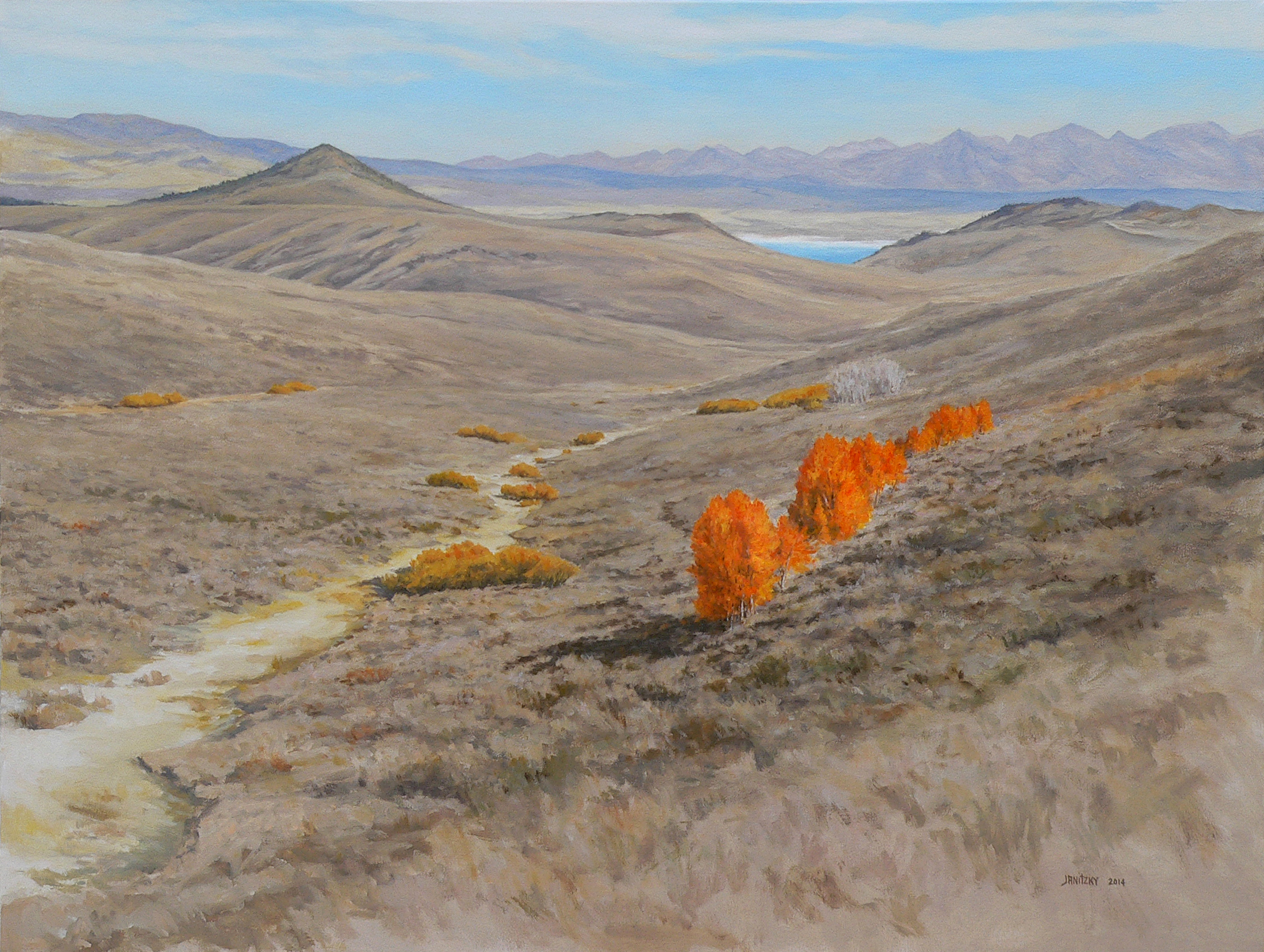 Above Mono Lake. 2014. Oil on canvas, 30 x 40.jpg