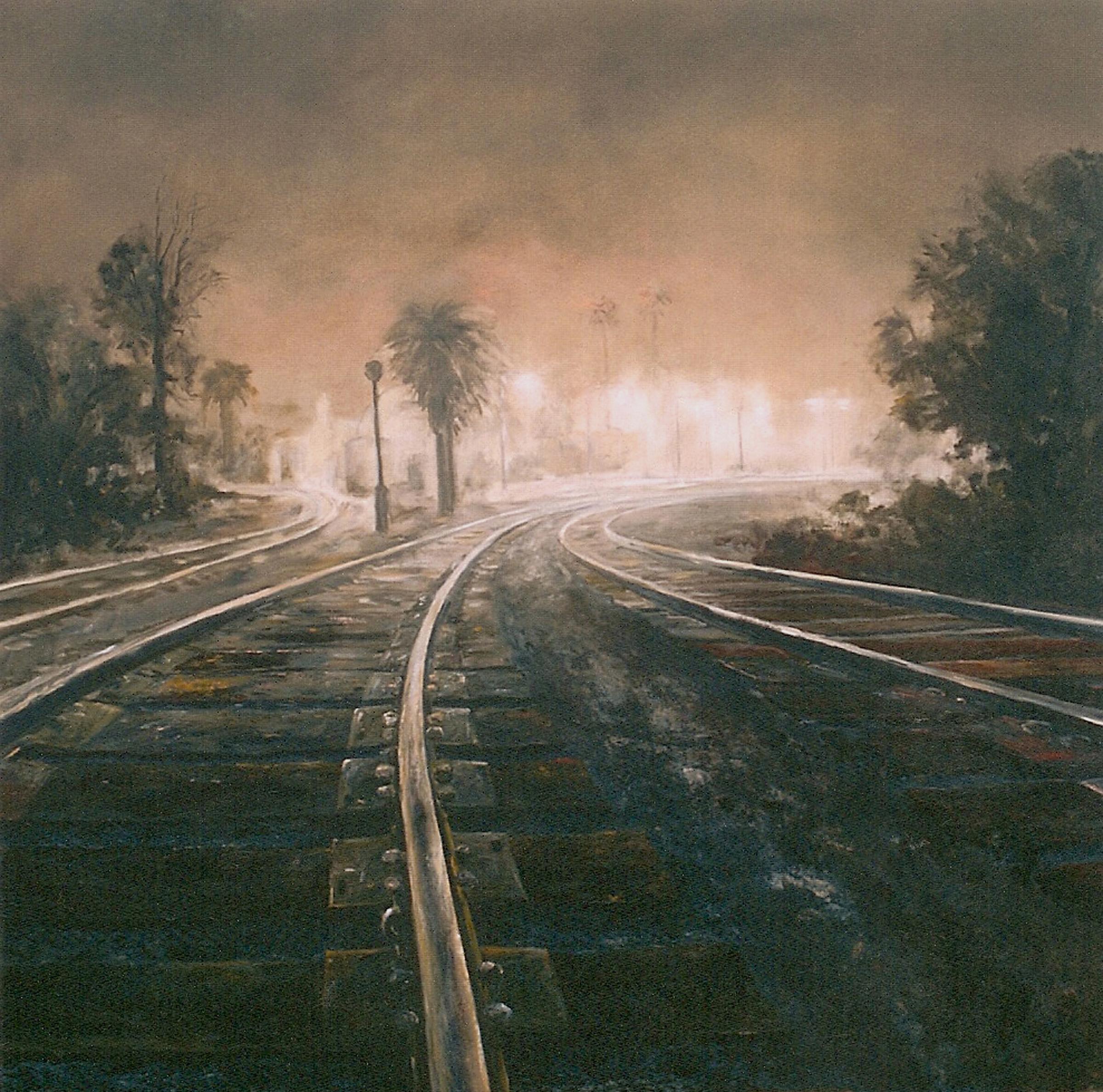 Davis Train Depot, Night.