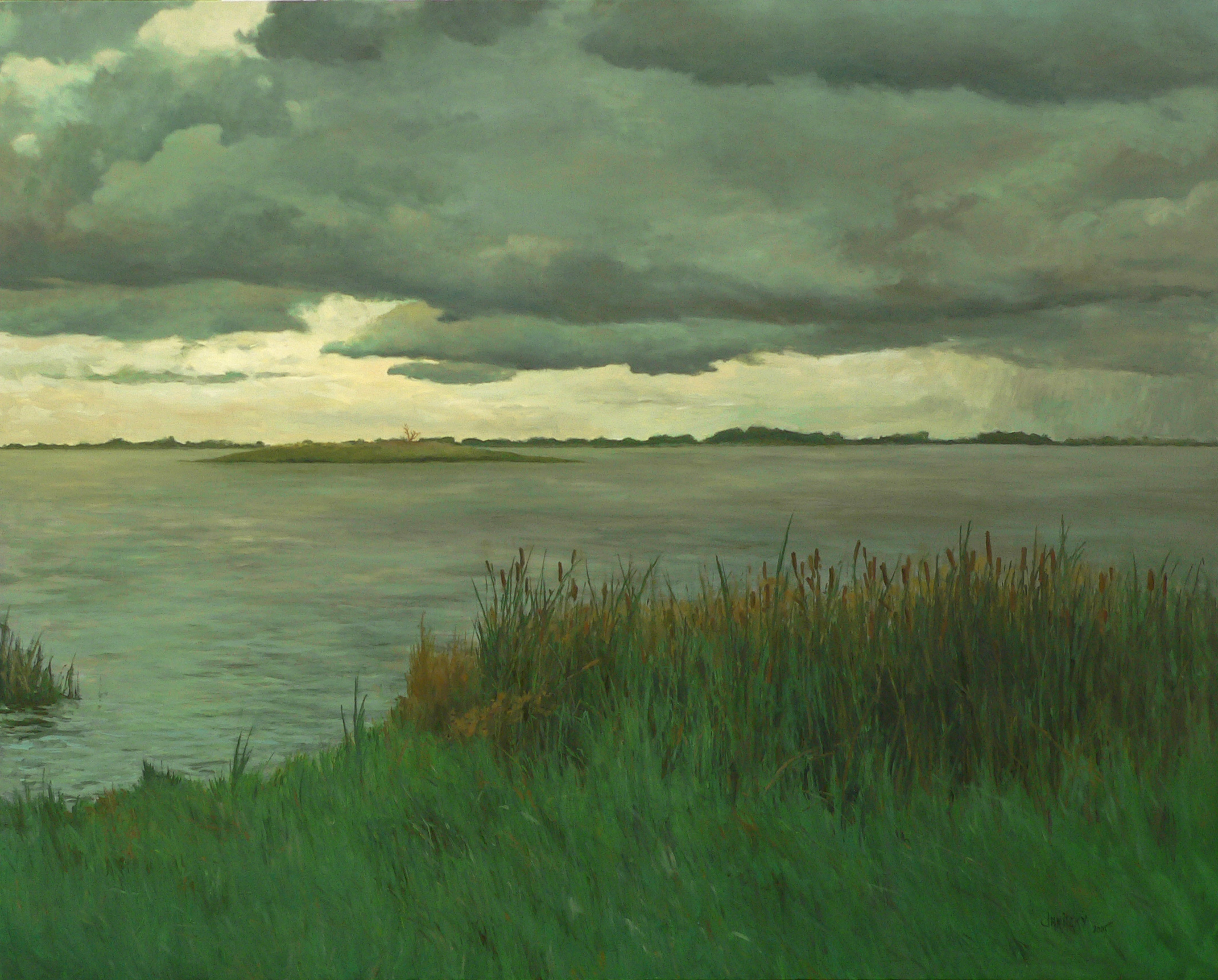 Liberty Island, Storm (#2). 2005. Oil on canvas, 48 x 60.jpg