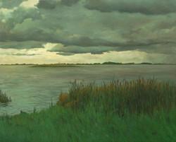Liberty Island, Storm (#2). 2005. Oil on canvas, 48 x 60.jpg
