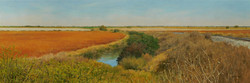 Pumphouse Road. 2005. Oil on masonite, 24 x 72.jpg
