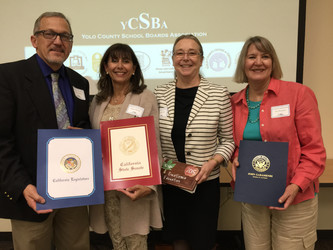 Founding members of Winters Farm to School, received the 2015 Yolo County Excellence in Education Aw