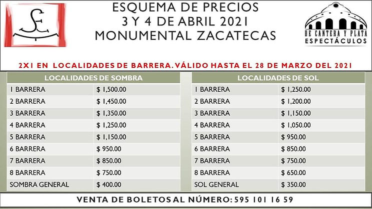Precios Zacatecas 2021