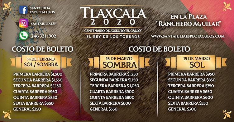 Precios tlaxcala 2020
