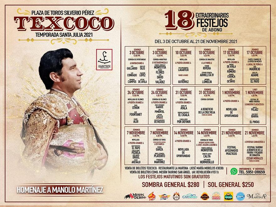 CARTELES TEXCOCO 2021