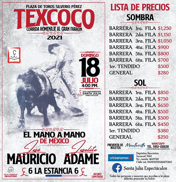 Precios Texcoco 2021
