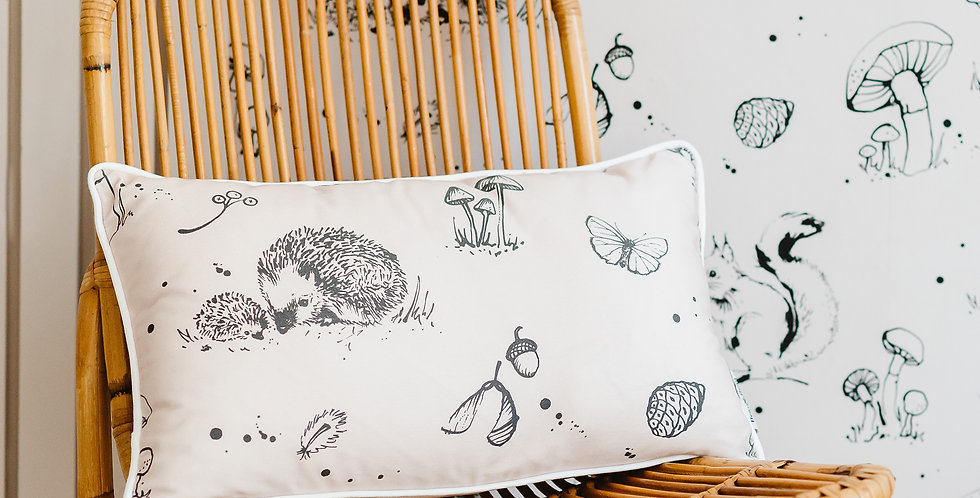 Woodland Creatures Cushion -Long