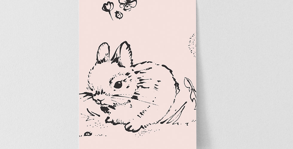 Sample Little Bunny Wallpaper - Pink