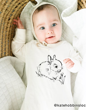 Organic Cotton Baby Sleepsuit with Mitts