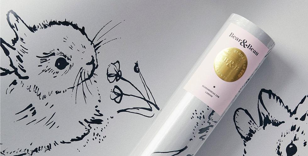 Sample Little Bunny Wallpaper - Grey