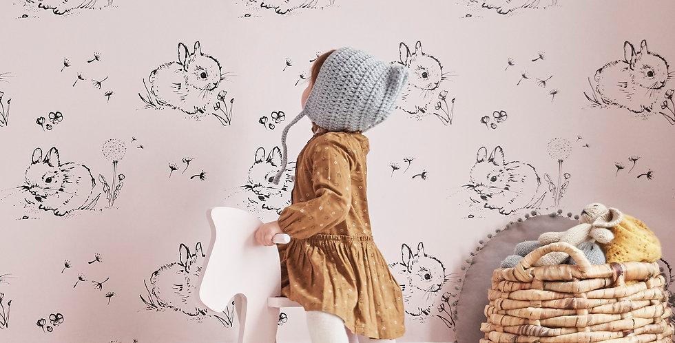 Little Bunny Wallpaper - Pink