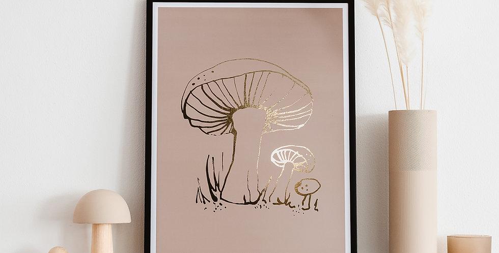 Woodland Toadstool Art Print - Portobello