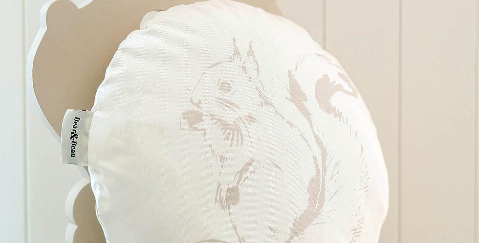 Woodland Creatures Squirrel Cushion