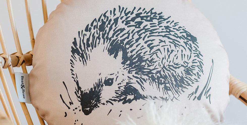 Woodland Creatures Hedgehog Cushion